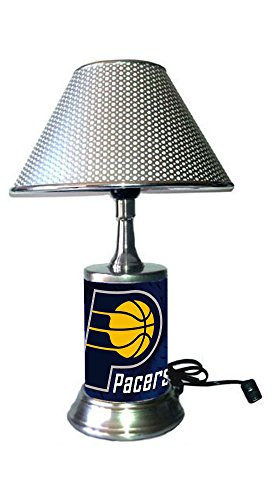 Rico Table Lamp with Chrome Colored Shade, Indiana Pacers Lamp with Chrome Colored Shade ()