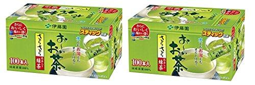 Ito En Oi Ocha Japanese Green Tea, Macha blend, pack of 100 [Japan Import] set of 2