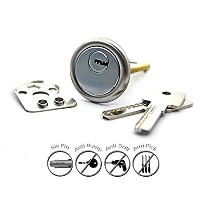 YALE Replacement Rim Cylinder 4 Keys Dimple Style Door Lock Nightlatch Latch NEW