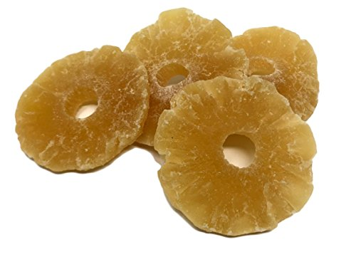 NUTS U.S. - Unsulphured Dried Pineapple Ring, Low Sugar, No Color Added, Natural!! (2 LBS)