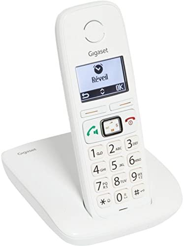 Gigaset E310 Comfort - Teléfono (Teléfono DECT, Altavoz, 120 entradas, Blanco): Amazon.es: Electrónica