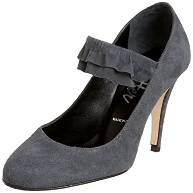 Butter Women's Theodora Mary-Jane,Grey Suede,6 M US