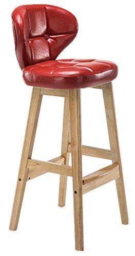 MIRACLE 木製 インテリア スツール カウンターチェアー 椅子 おしゃれ (Sサイズ レッド) MC-CAFSTOOL-S-RD B07253FD3R Sサイズ レッド レッド Sサイズ