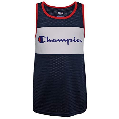 Champion Big Boys Heritage Muscle Top, Navy Script, Medium
