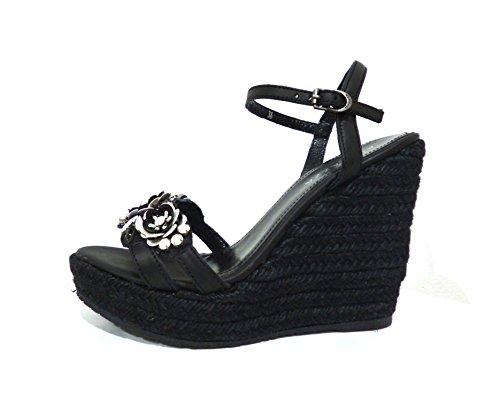 Apepazza  CLR09 Cheryl gaucho nero, Chaussures à brides femme