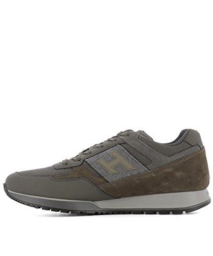Hogan Sneakers Uomo HXM3210Y940HIP9AZE Tessuto Verde Alta Calidad Comprar Barato 100% Auténtico rtnSM1zv