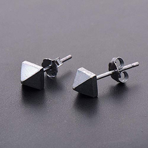 Sterling Silver 5mm Cone Post Stud Earrings.