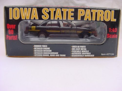 GEARBOX 1:43 SCALE, IOWA STATE PATROL, 2000 FORD CROWN VICTORIA
