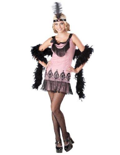 [Flirty Flapper Teen/Junior Costume - Teen Small] (Flirty Teen Flapper Costumes)