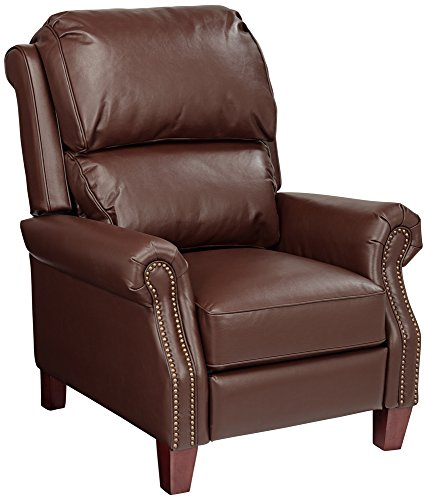 3 Way Recliner - Parma Moose Brown Faux Leather 3-Way Recliner Chair