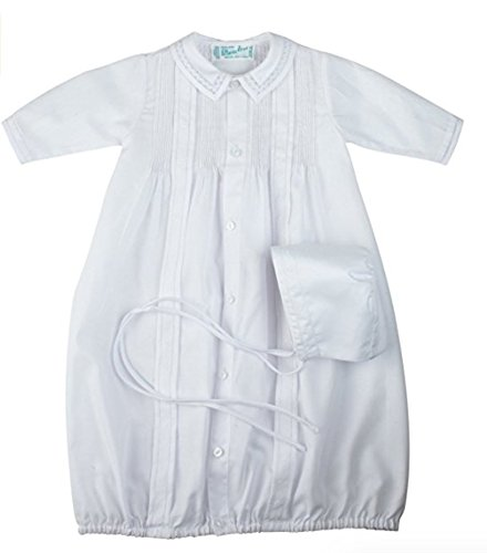 Unisex White Take-Me-Home Gown & Hat Newborn