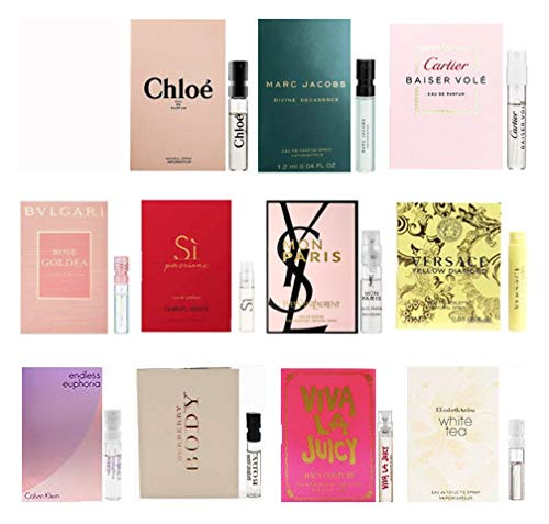 11 Women's Designer Fragrance Vial Sample ()