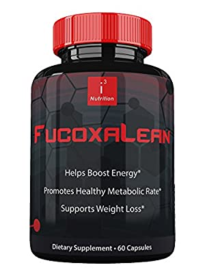 FucoxaLean by i3 Nutrition - Fucoxanthin Supplements - Boost Your Metabolism - Fucoxanthin Extract - Effective Appetite Suppressant - Rapid Weight Loss Clinically Tested - 30-DAY Guarantee