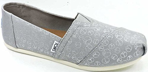 - TOMS Women's Drizzle Grey Foil Peace Sign 10010795 (Size: 8.5)