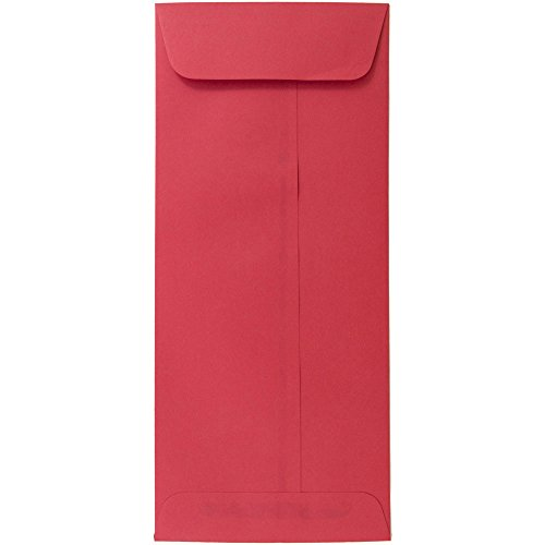 JAM PAPER #10 Policy Business Colored Recycled Envelopes - 4 1/8 x 9 1/2 - Red Recycled - ()