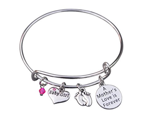 Mommys Little Girl Charm - Infinity Collection Mom Bracelet, Mom Daughter Charm Bracelet, Mother Bracelet Makes The Perfect New Mom Gift, or Baby Gift