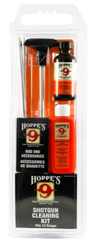 Shotgun Cleaning Barrel (Hoppe's No. 9 Cleaning Kit with Aluminum Rod, 12-Gauge Shotgun, Clamshell)