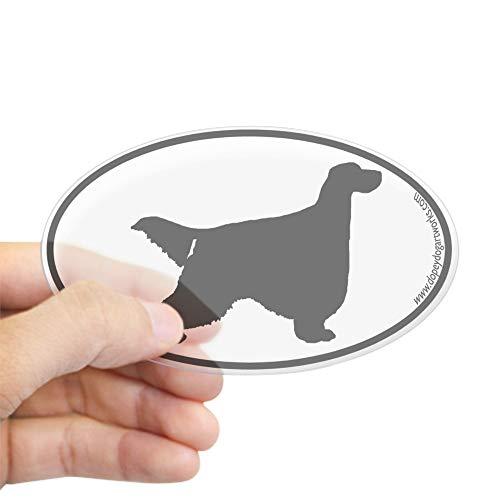 CafePress Gordon Setter Silhouette Oval Sticker Oval Bumper Sticker, Euro Oval Car Decal (Gordon Setter Silhouette)