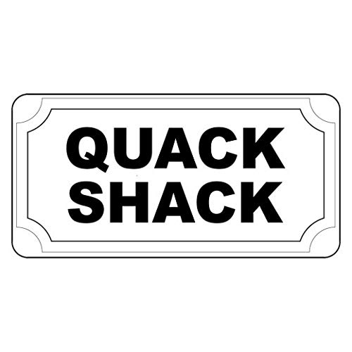Dozili Quack Shack Black Retro Vintage Style Metal Signs ES for Home Club Beer Decor 10