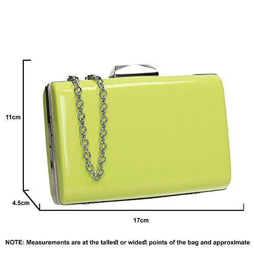 Box Ladies SWANKYSWANS Patent Clutch Oregon Prom Womens Leather Party Faux Green Bag wwZHxqO