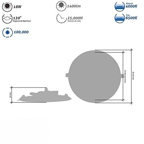 Downlight Led Redondo 18W Blanco Con sensor de movimiento: Amazon.es: Iluminación
