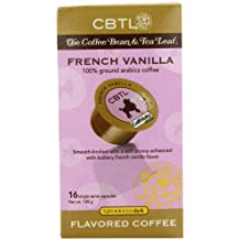 CBTL French Vanilla Coffee Capsules By The Coffee Bean & Tea Leaf, 16-Count Box