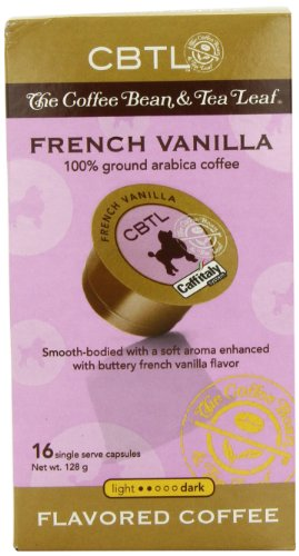 CBTL French Vanilla Coffee Capsules By The Coffee Bean & Tea Leaf, 16-Compute Box