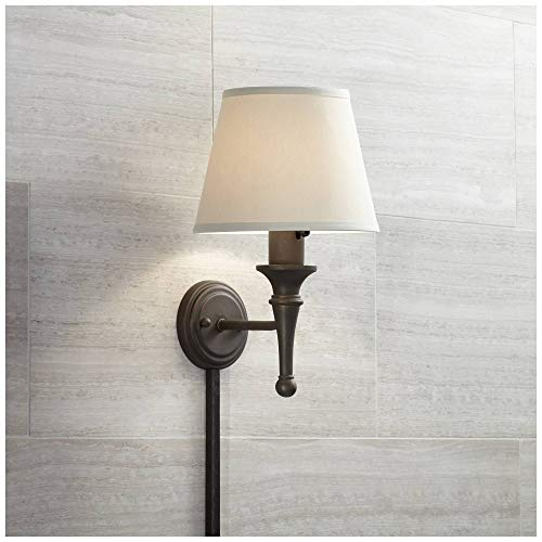 Braidy Bronze Plug-in Wall Sconce with Cord Cover - Regency Hill