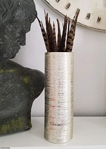 Afloral Zodiac Ceramic Cylinder Vase in Gold – 12