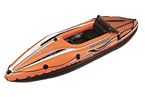 "POOL CENTRAL JL007202N Pool Central 108"" Orange and Black Pathfinder I Inflatable Single Person Kayak by Pool Central"