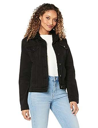 All About Eve Women's Hendrix Shearling Denim Jacket, Black, 10