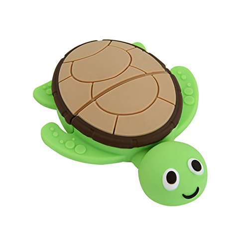 (32GB USB 2.0 Flash Drive Novelty Cute Animal Green Sea Turtle Shape Pen Drive Cartoon Tortoise Thumb Drive Memory Stick Pendrive)