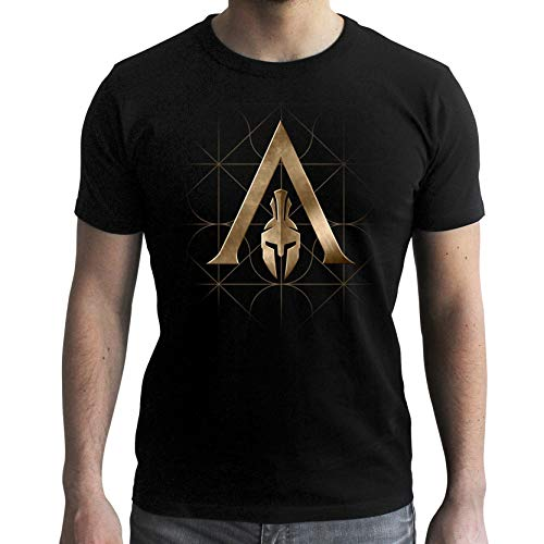 Mc Odyssey Men Black Abystyle Creed Tshirt Crest Assassin's 7wqWwA81z