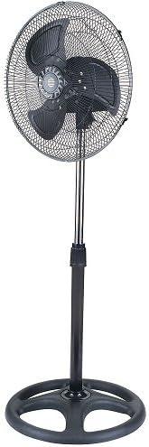 KUKEN Ventilador con pie 100w ultrasilencioso cabezal orientable giro 180º