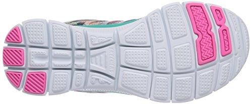 Skechers Flex Appeal Floral Bloom, Zapatillas de Deporte Exterior para Mujer Azul/Multicolor (AQMT)