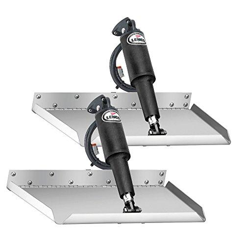 30' Trim Kit Stainless Steel - Lenco 15016-101 Edge Mount Trim Tab Kit Without Switch - 12