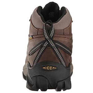 KEEN Men's Targhee II Mid Wide Hiking Shoe, Shiitake/Brindle, 11 W US