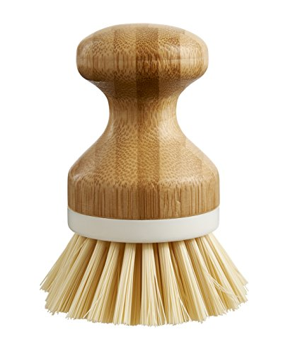 (HIC Harold Import Co 42003 Vegetable Scrubber Dishwashing Brush, White)