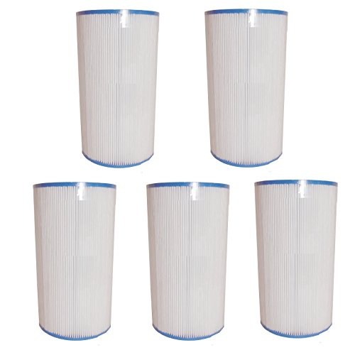 Aqua Kleen 6430-5 5 Pack 35 sq. ft. Replacement Filter Hot Spring Cartridge, White