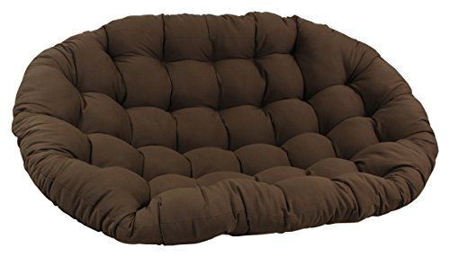 Blazing Needles Solid Twill Double Papasan Chair Cushion, 48' x 6' x 65', Toffee