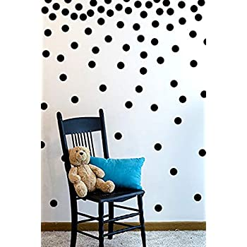 Amazon com: Black Wall Decal Dots (200 Decals) | Easy Peel