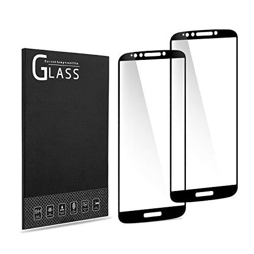 [2-Pack] Batauu Motorola Moto E5 Plus/Moto E5 Supra Tempered Glass Screen Protector, Full Screen Coverage, Anti-Scratch, Bubble Free, Lifetime Replacement Warranty (Black)