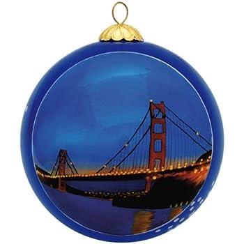San Francisco Christmas Ornament - Golden Gate Bridge By Night - Amazon.com: San Francisco Christmas Ornament - Golden Gate Bridge By