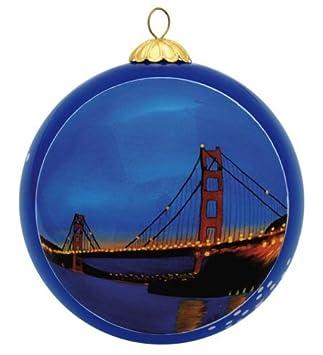 Amazon.com: San Francisco Christmas Ornament - Golden Gate Bridge ...