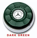 ZieglerWorld Table Large Shuffleboard Puck Weights -- Dark Green - Yellow Gold
