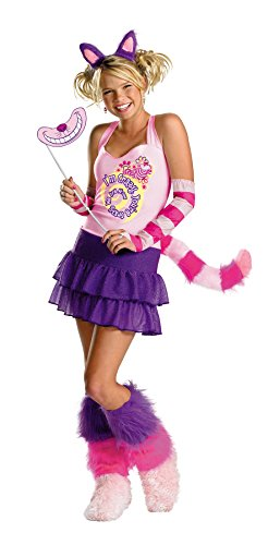 UHC Teen Girl's Disney Alice In Wonderland The Cheshire Cat Halloween Costume, Child XL (14-16) -