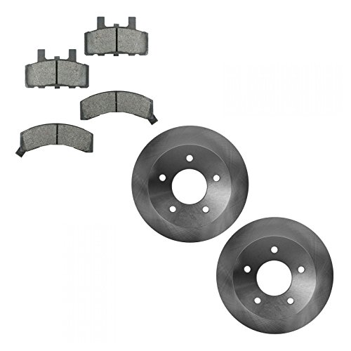 Rotor & Brake Pad Ceramic Front LH Left RH Right Kit for Astro Safari (Chevrolet Astro Rotor)