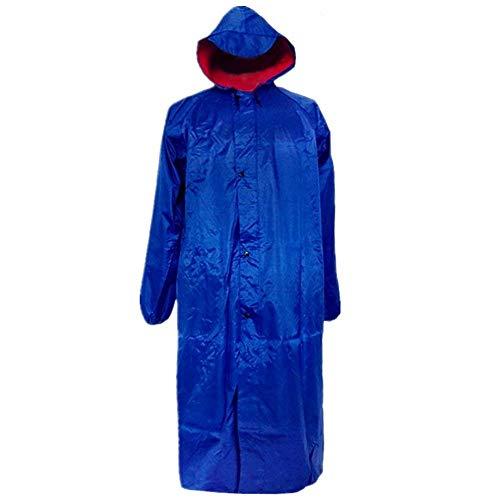 Poncho Señora A Mujeres Capa Capucha Lluvia Exterior Casual Hombres Viaje Viento Impermeable Azul De Prueba ABvY5qwv
