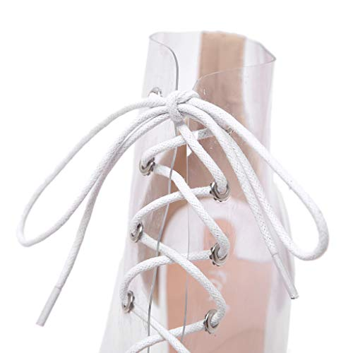 Tacco Ihaza Lacci Donna Punta Bianco Alto Trasparenti Con Scarpe A Da 8qUH8