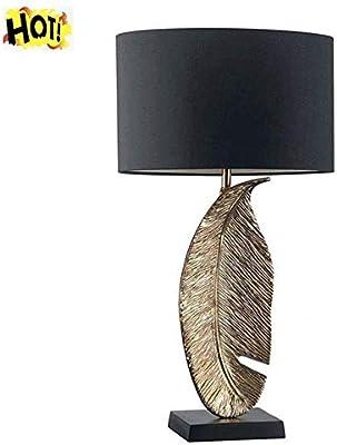 Lámparas De Mesa Modernas Lámpara Nórdica LED Hojas Doradas ...